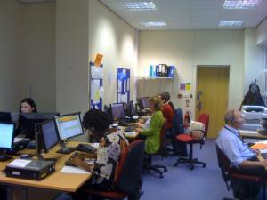 Volunteers working in our contact centre